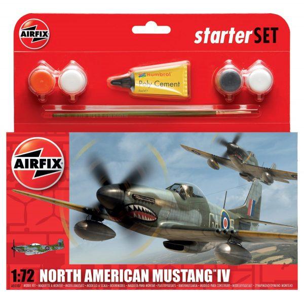 An Airfix P51 Mustang Starter Set